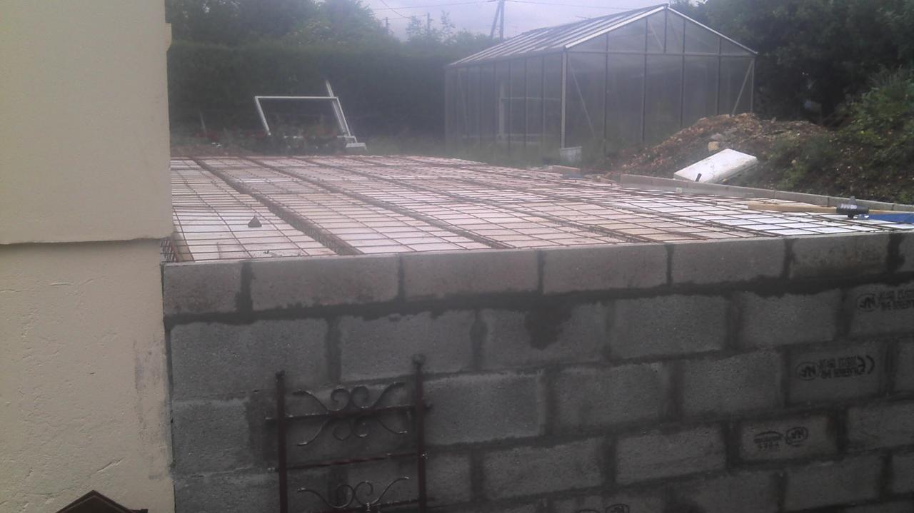 Création d'un plancher en béton armé