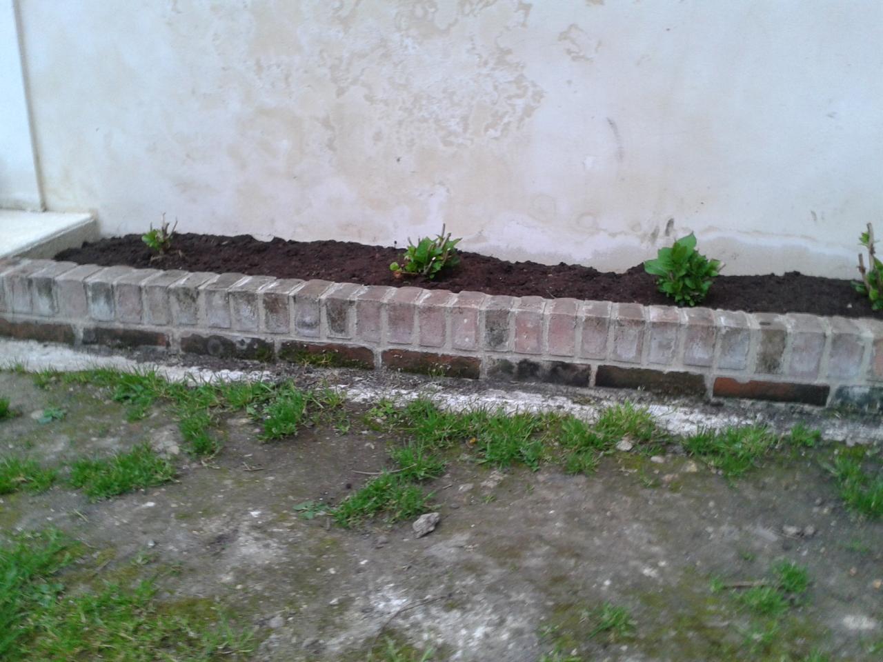 Création de parterres de fleurs en briques