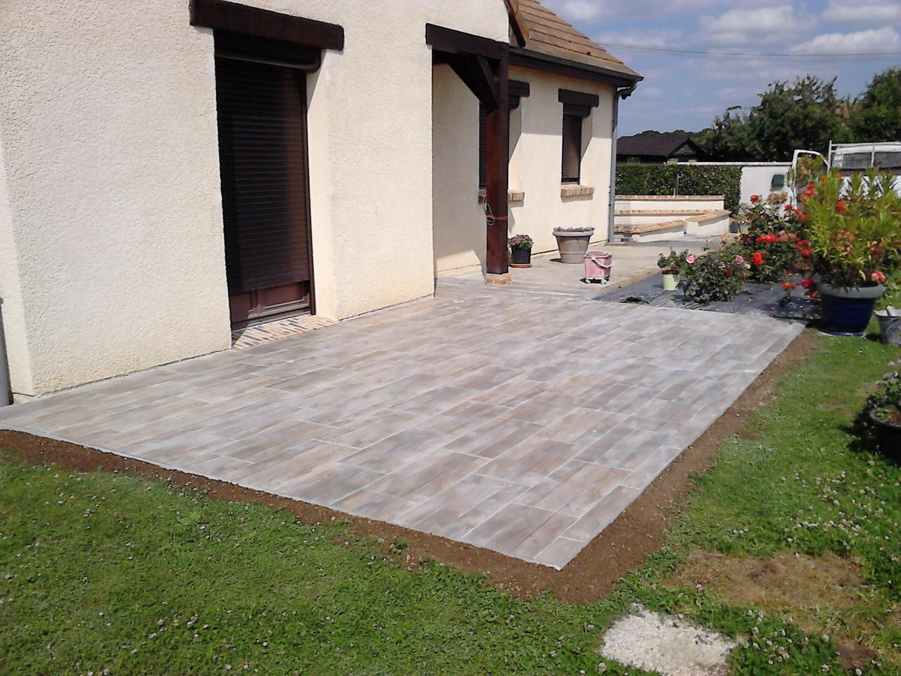 Carrelage ext rieur terrasse all e et trottoir Terrasse carrelage