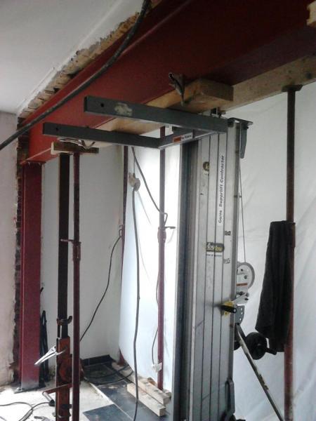 chantier c mise en place ipe 400 mm et poteau hea 120 mm. Black Bedroom Furniture Sets. Home Design Ideas