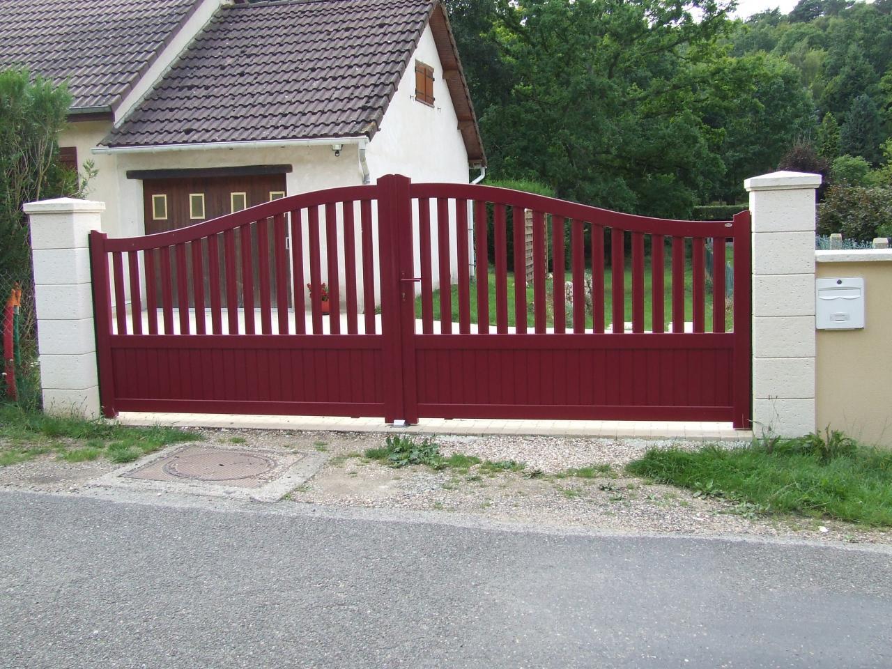 Création de piliers et d'un seuil de portail