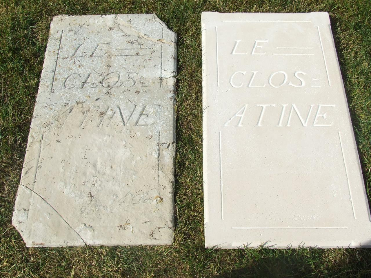 Création d'une plaque en ciment à partir d'un modèle ancien
