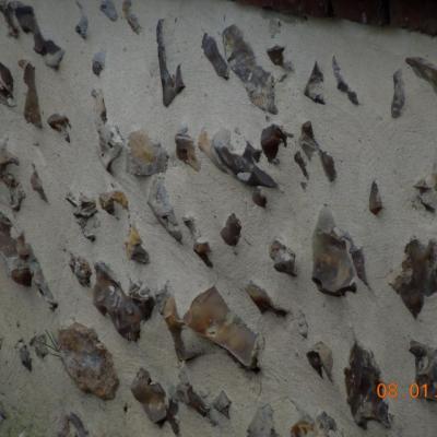 Rénovation murs en silex, joints de silex