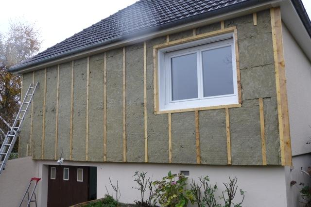 Isolation par l 39 ext rieur en laine de roche avec bardage for Isolation facade exterieur