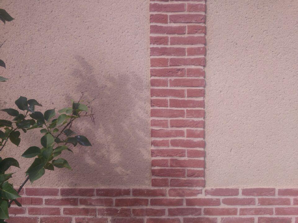 Plaquettes de parement en briques moulées à la main