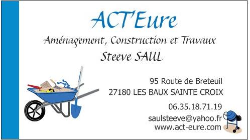 Carte de visite ACT'Eure